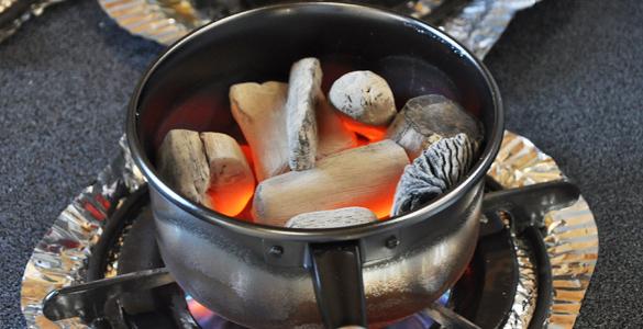 紀州備長炭の火付け方法 火起こし器