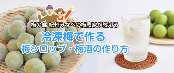 冷凍梅で作る梅シロップ・梅酒の作り方(レシピ)